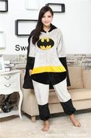Superhero Batman Anime Cosplay Movie Costume Men Women Adult Onesie Pajamas Soft Fleece Pyjamas Jumpsuit Romper Sleepwear