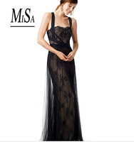MISA 2014 New Luxury Celebrity Elegant Long Lace Floral Party Evening Dress Elegant Brand Maxi Dresses Formal Mermaid  Prom Gown