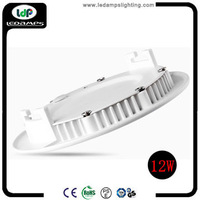 10pieces/lot 12w Round Shape 110v 220v downlight SMD2835 ceiling light Warm White Cool White led flat light