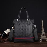 2014 New 100% Genuine leather men bags Zipper  Handbag Shoulder Worn Laptop Handmade Business High-end Bag Men Briefcase Bags