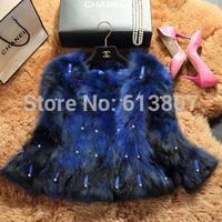Brief paragraph fox fur fur coat free shipping the new 2014 ms MAO raccoon fur round tie