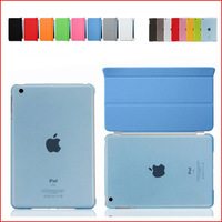 50 Pair/lot High quality PU Leather Magnetic Smart Cover+ Hard Back Case For IPAD AIR 2 IPAD 6 Multi-Colors free shipping