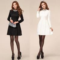 New Arrival Fashion Women's Rhinestone Jacquard Full Lace Vintage Evening Elegant Dress