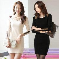 2014 Autumn Ladies long-sleeved dress Korean yards Slim package hip dress bottoming clothes female temperament women dress