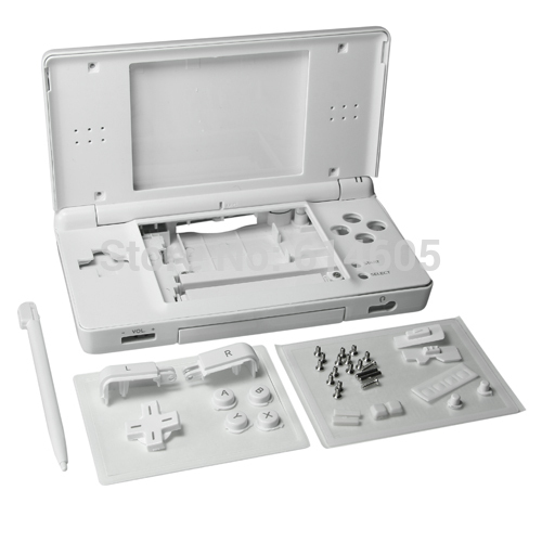 White Full Repair Parts Replacement Housing Shell Case Kit for Nintendo DS Lite NDSL(China (Mainland))