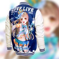 Japanese Anime Cartoon Love Live Minami Kotori  Baseball uniform Long Sleeve Sweater