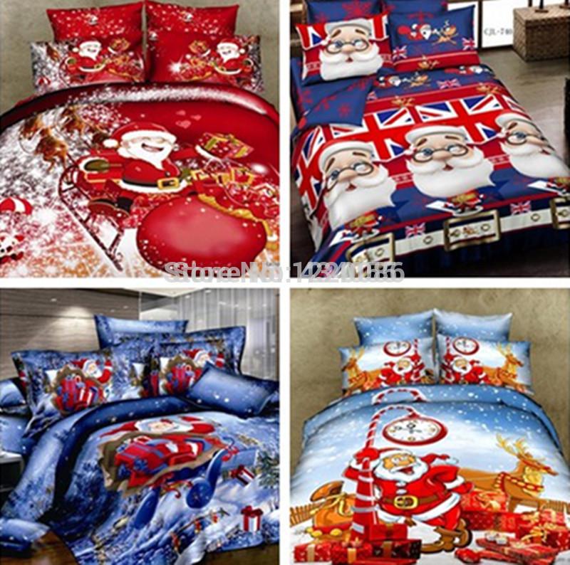 Hot ! Decoração de Natal conjunto de cama para crianças capa de edredão conjuntos de roupa de cama Roupa de cama capa do edredon Natal GiftTwin / Full / Queen Size(China (Mainland))