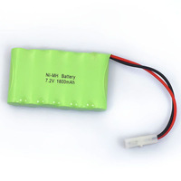 Practical 7.2V 1800mAh 6x AA NIMH RC Rechargeable Battery Pack Modle-2 For Toys