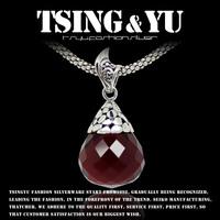 Pure 925 SILVER AGE vintage carbunde silver pendants pendant - zero