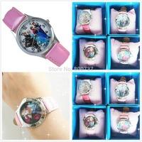 10PCS/Lot Wholesale Frozen Wristwatches Children Christmas Gift Kids Princess Anna/Elsa Watch New Free Random Shipping