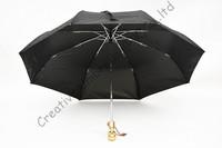 Skull handle,creative umbrella,2 times black coating,100%sunscreen,UPF>50+,parasol,three fold auto open&auto close ,windproof,