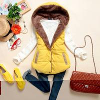 Autumn Plus Size Slim Velvet Winter Vest Women Thermal Down Cotton A Hood Female All-match Vests Coat Colete Feminino