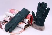 Free Shipping 100% Fur Women Leather Gloves Genuine Leather Glove women Winter Warm Luva
