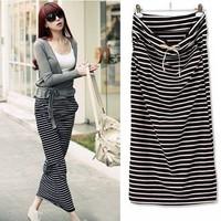 New Fashion 2014 Brand Summer Skirts For Women/Designer Casual Striped Women Skirts/Straight Maxi Skirts Women