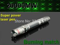 High power green laser pointers 20000mw green pen laser pen laser pen matches+