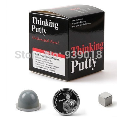 Free shipping 5pcs/lot Thinking Putty Magnetic Toy - Amazing Thinking Putty Magnetic Krypton Thinking Putty with box(China (Mainland))