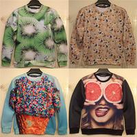 Kiwi fruit/Lemon orange print 3D fruit sweater men's autumn sweatshirt funny lulu mouth-watering men hoodies pullovers