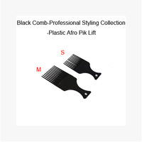 Free shipping 4pcs/lot Black comb-proffesional styling collection,Plastic Afro Pik Lift. S&M size mixed