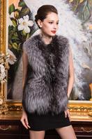 Good Quality!fashionable single Silver fox fur vest vest coat Winter Fur vest free shipping Plus size XXXL