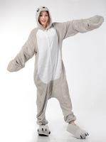 Sea Dog / Sea Lion Animal Cosplay Costume Men Women Adult Onesie One Piece Pajamas Soft Fleece Pyjamas Jumpsuit Romper Sleepwear