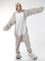 Sea Dog / Sea Lion Animal Cosplay Costume Men Women Adult Onesie One Piece Pajamas Soft Fleece Pyjamas Jumpsuit Romper Sleepwear
