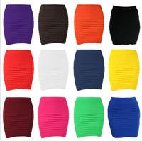 New Women Sexy Striped Pleated Slim Mini Skirts Bandage Skirt Plus Size