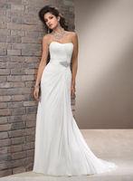 New White/Ivory Chiffon Bridal Gown Wedding Dress Custom Size 6 8 10 12 14 16+A