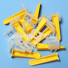Free Shipping Tile Leveling System Tile Leveling Spacers Tools Clips Floor Tile Leveling Plastic Tile Wedges and Straps(China (Mainland))