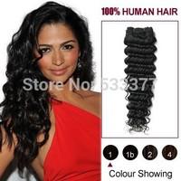 5A Peruvian virgin hair Deep Curly Hair 3/4pcs human hair bundles Unprocessed Peruvian deep wave,Free Shipping