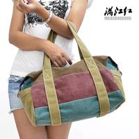 new color stripe canvas bag casual shoulder bag  outdoor Messenger handbag canvas bag Men Women General Free shipping