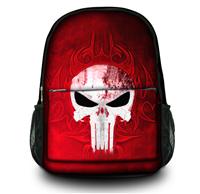 "Skull Fasion Design 15"" Canvas Computer Backpack Travel Shoulder Bag Gifts for Men Durable Free Shipping"