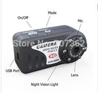 DHL Free Shipping T8000 HD 1080P 1920X1080  IR Night Vision Q5 Metal small Camera with retail box with 100pcs/lot