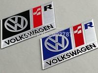 150logos MIx order 300PCS 3D aluminum R 3R SR volkswagen stickers emblem decal alloy  car badge VW blue