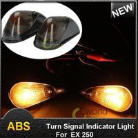 1pair Motorcycle 12V Amber Rear Led Turn Signal Indicator Light Flush Mount Motorbike Blinker Lamp For EX 250