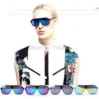 2015 I-bright New Fashion Designer 5 Colors Unisex Oversized Sunglasses Reflective Lens Mirror Motorcycle Sports Goggle Glasses