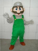 Hot Sale! Free Shipping! Super Mario Gray Hat Adylt Size Cartoon Mascot Costume