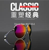 Vintage pilot style hot sale Europe America unisex women men outdoors fashion sunglasses,designer brand metal Earstem glasses