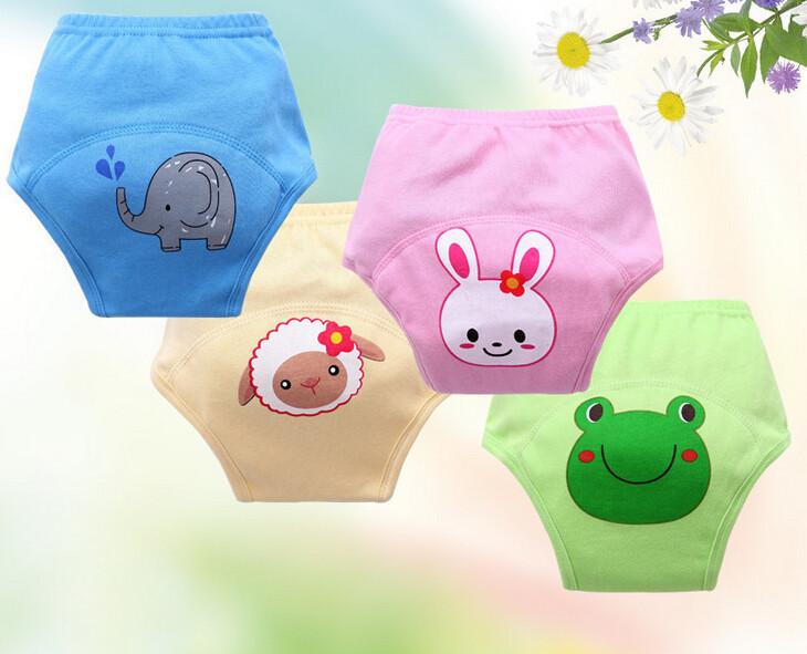 5pcs/lot waterproof baby training pants cartoon boys potty panties newborn diaper pants free shipping(China (Mainland))