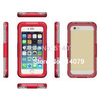 IP68 Waterproof Dustproof Shockproof Bumper Case For Apple iPhone 6 Plus 5.5&quot Case 5.5 Inch Retail Packaging Red