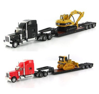 Norscot Trail King Lowboy Trailer And Cat D5M Track & Trail King Lowboy Trailer And Cat 315C L 1:87 DieCast Toy (two-piece)