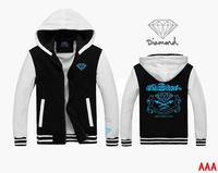Fashion brand Diamond supply co men Jackets 100% cotton Jackets hip-hop style sweatshirts  better quality