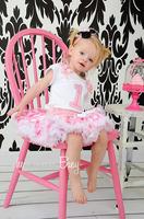 hot sale arrival pink polka dot pettiskirt girl white trim original designer style newborn---2T good gift for cute daughter