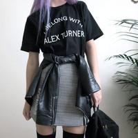 Big size S-XXXL women couple summer fashion cotton punk style short sleeve printed tshirts fashion tops plus size hot sale!!
