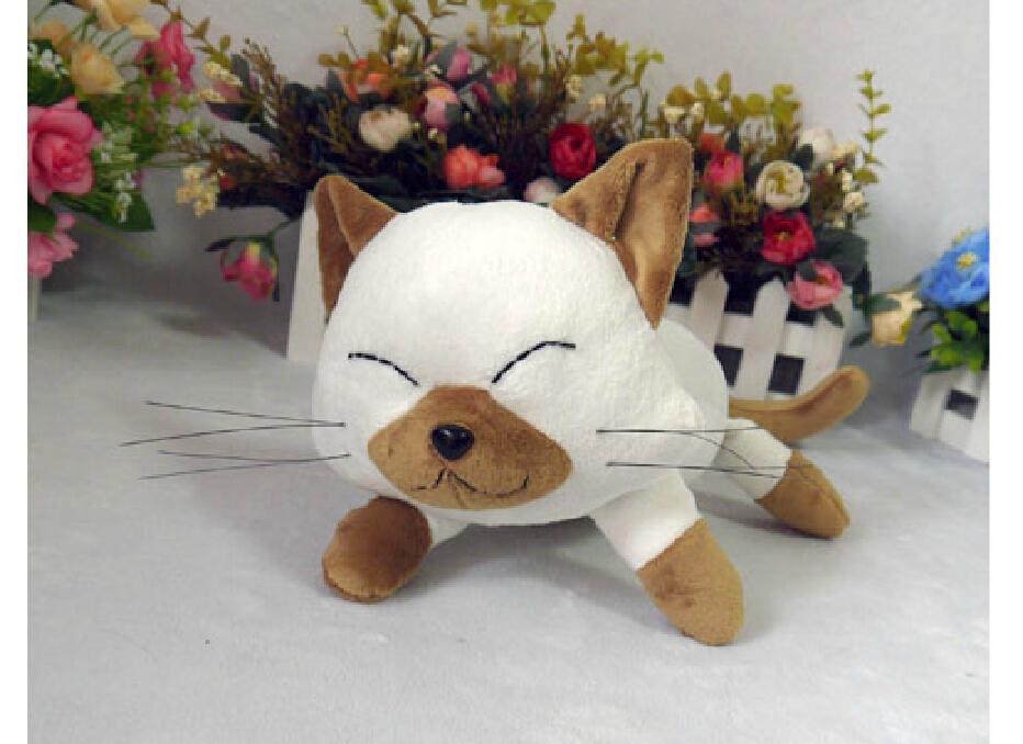 New plush toys Snow Maiden Kanon water Sena snow cat head kids like plush dolls(China (Mainland))