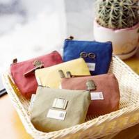 3556 Korean fashion retro small cute metal canvas coin purse key bag clutch bag
