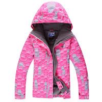 2014 gsou snow women's ski jacket snowboarding jacket pink snow wear skiing jacket for women anorak waterproof 10K breathable