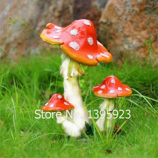 1pcs/lot Resin Mushroom Toadstool Dots Fairy Garden Terrarium Home Aquarium DIY Christmas Decoration Landscape Drop Shipping(China (Mainland))