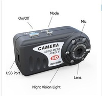 DHL Free Shipping T8000 HD 1080P 1920X1080  IR Night Vision Q5 Metal small Camera with retail box with 50pcs/lot