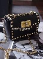 Hot sell  All-match rivet day clutch bag lady fashion one shoulder bag cross body bags metal chain handbag