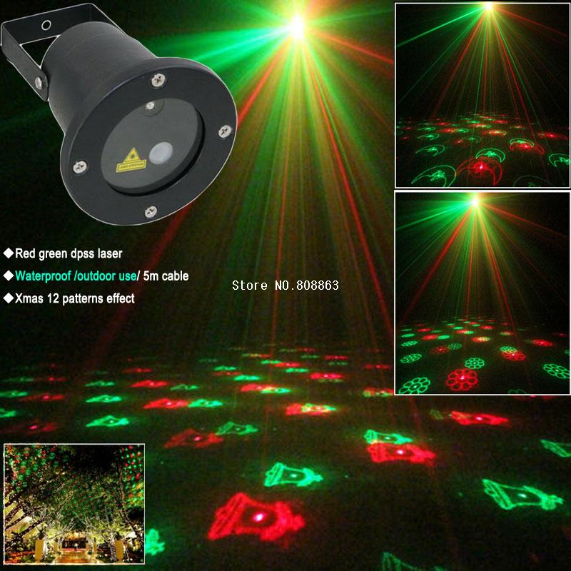 new arrival R&G Outdoor Holiday Waterproof Laser Lighting projector Show 12 patterns Landscape Light party Tree Garden Xmas(China (Mainland))